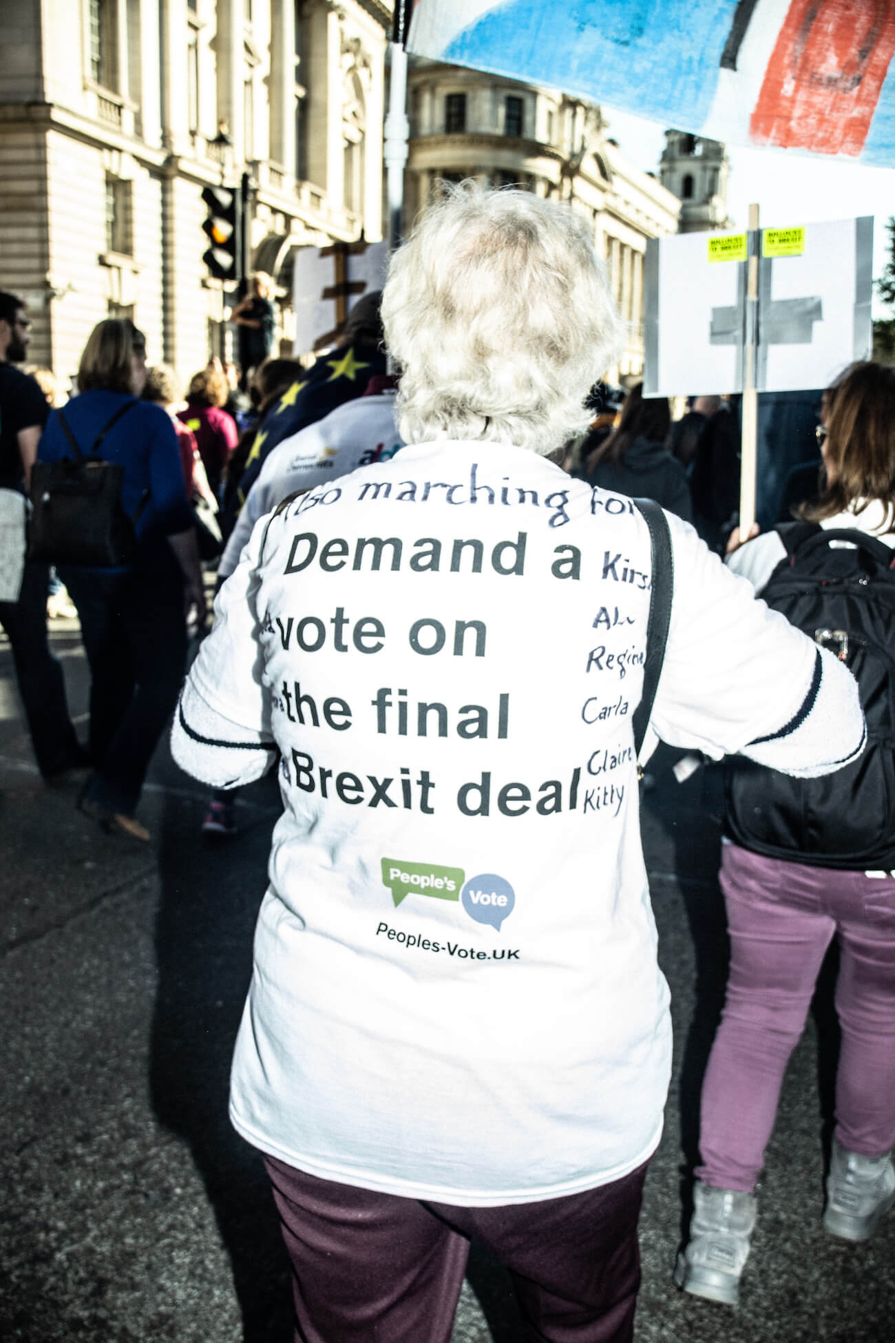 London, UK. Brexit March in October 2018, photographed by Maria Pincikova.